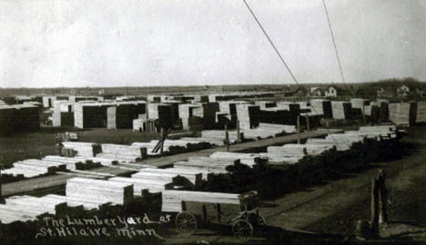 Lumber Yard at St. Hilaire Minnesota, 1908