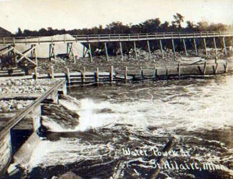 Water Power at St. Hilaire Minnesota, 1910