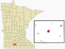 Location of St. James, Minnesota
