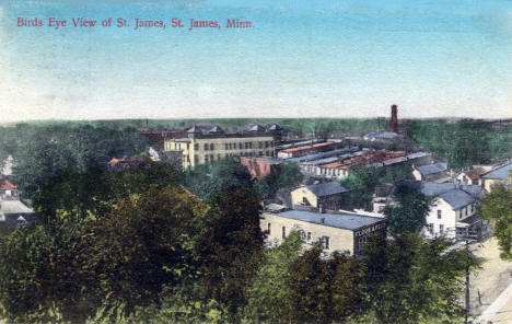 Birds eye view, St. James Minnesota, 1900's