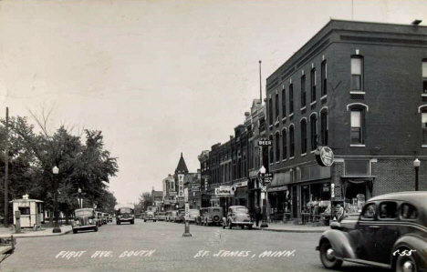 First Avenue South, St. James Minnesota, 1940's