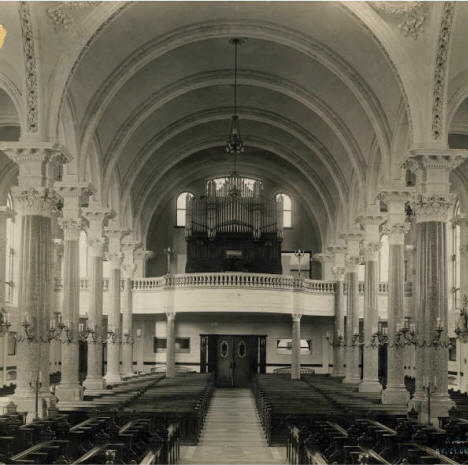 Interior of Sacred Heart Chapel facing east, St. Joseph Minnesota, 1914