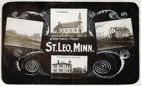 4 scenes of St. Leo Minnesota, 1910