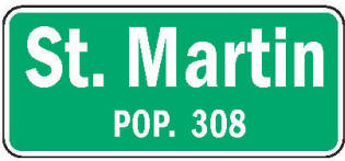 St. Martin Minnesota population sign