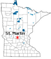 Location of St. Martin Minnesota