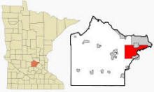 Location of St. Michael, Minnesota