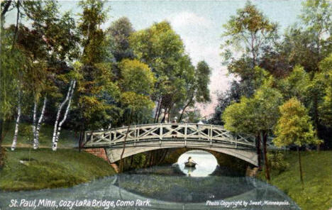 Bridge in Como Park, St. Paul Minnesota, 1900's