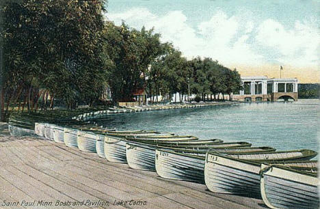Boats and Pavilion, Como Park, St. Paul Minnesota, 1910's