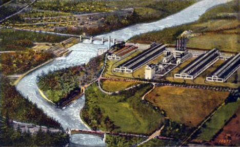 Government Dam and Ford Plant, St. Paul Minnesota, 1920's
