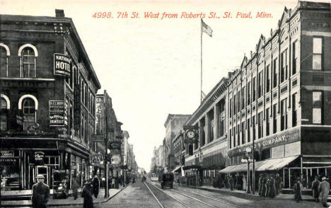 West 7th Street from Robert Street, St. Paul Minnesota, 1912