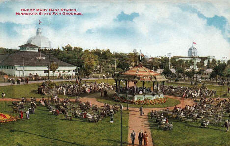 One of the many Bandstands at the Minnesota State Fairgrounds, 1910's