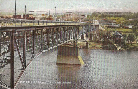 Wabasha Street Bridge, St. Paul Minnesota, 1908