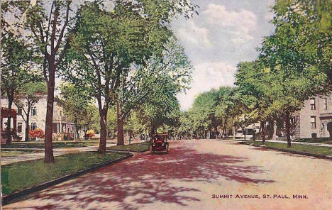 Summit Avenue, St. Paul Minnesota, 1912