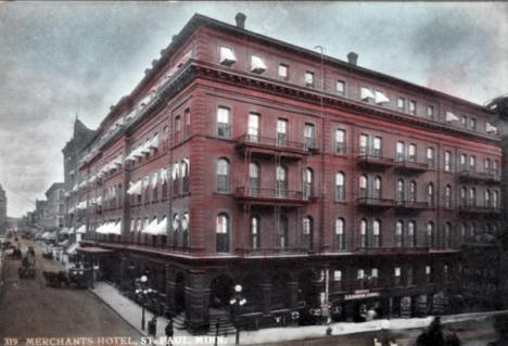 Merchants Hotel, St. Paul Minnesota, 1900's