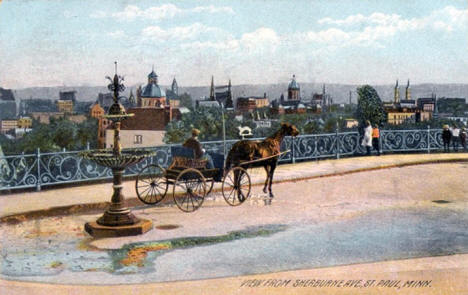 View from Sherburne Avenue, St. Paul Minnesota, 1908