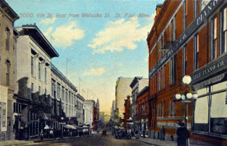 6th Street looking east from Wabasha, St. Paul Minnesota, 1912