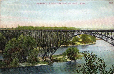 Marshall Avenue Bridge, St. Paul Minnesota, 1910's