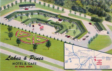 Lakes & Pines Motel & Cafe, Saint Paul Minnesota, 1940's