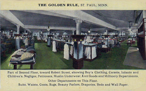 Interior of the Golden Rule Department Store, Downtown St. Paul Minnesota, 1910's