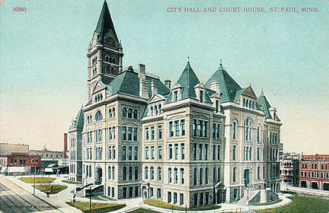 City Hall and Court House, St. Paul Minnesota, 1910's?