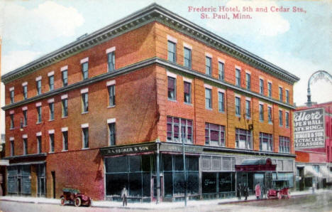 Frederic Hotel, 5th & Cedar, St. Paul Minnesota, 1913