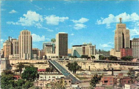Downtown St. Paul Minnesota, 1960's
