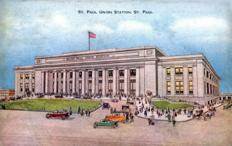 Union Depot, St. Paul Minnesota, 1910's