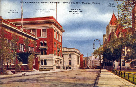 Washington from Fourth Street, St. Paul Minnesota, 1915