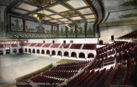 Auditorium and Convention Hall, St. Paul Minnesota, 1907
