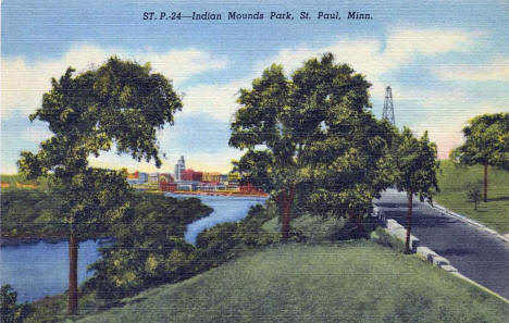 Indian Mounds Park, St. Paul Minnesota, 1950