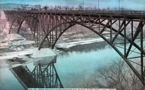 New Bridge over the Mississippi River at Fort Snelling, 1909