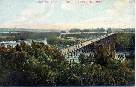 Fort Snelling High Bridge, St. Paul Minnesota, 1900's