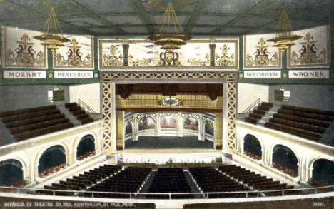 Interior of Theatre, St. Paul Auditorium, St. Paul Minnesota, 1910