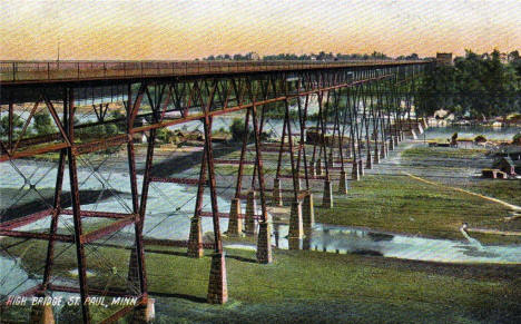 High Bridge, St. Paul Minnesota, 1910