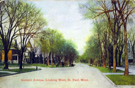 Summit Avenue looking west, St. Paul Minnesota, 1917