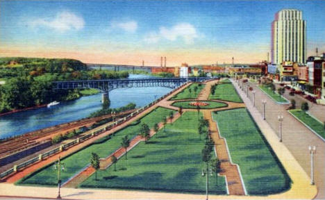 Kellogg Boulevard looking west, St. Paul Minnesota, 1936