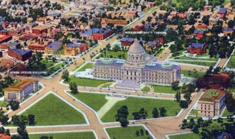 Aerial view, Minnesota State Capital, St. Paul Minnesota, 1933