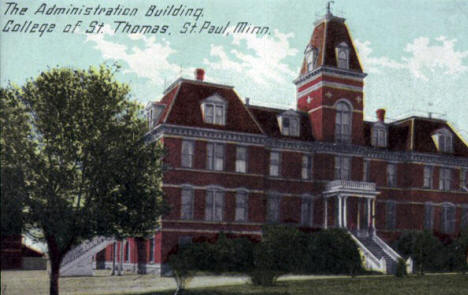 Administration Building, College of St. Thomas, St. Paul Minnesota, 1910's?