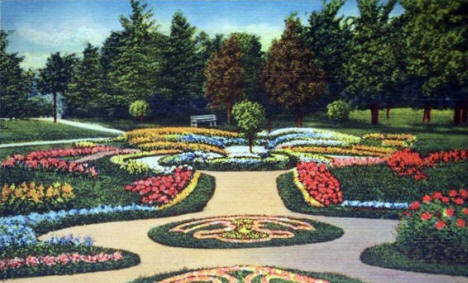 Flower Beds, Como Park, St. Paul Minnesota, 1936