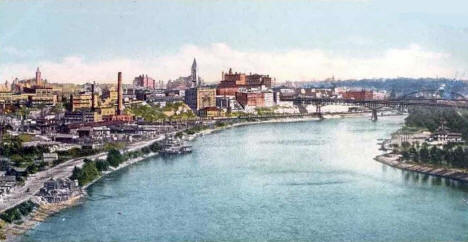 St. Paul from the High Bridge, 1902