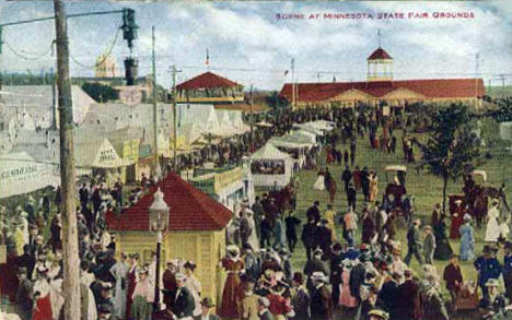 Scene at Minnesota State Fairgrounds, St. Paul Minnesota, 1913