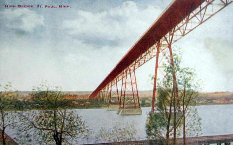High Bridge, St. Paul Minnesota, 1905