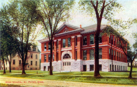 High School, St. Peter Minnesota, 1910's