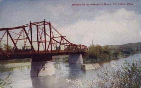 Bridge over Minnesota River at St. Peter Minnesota, 1910's?
