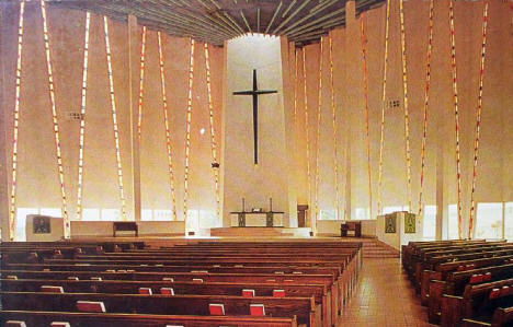 Interior, Christ Church, Gustavus Adolphus College, St. Peter Minnesota, 1960's