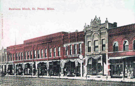 Business block, St. Peter Minnesota, 1913