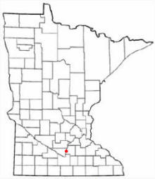 Location of St. Peter Minnesota