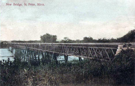 New Bridge, St. Peter Minnesota, 1909