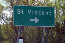 St. Vincent Minnesota highway sign