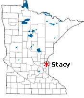 Location of Stacy Minnesota